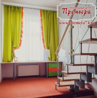 Радостные зеленые шторы в детскую