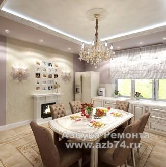 Кухня частного дома в стиле модерн