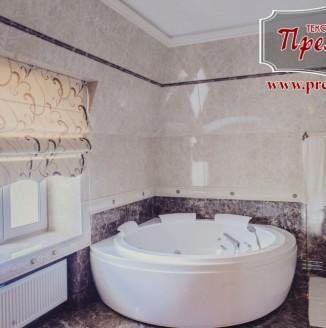 Римская штора для ванной комнаты