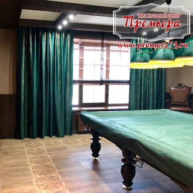 Текстильное оформление бильярдной комнаты