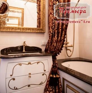 Стильная водостойкая штора для ванной комнаты