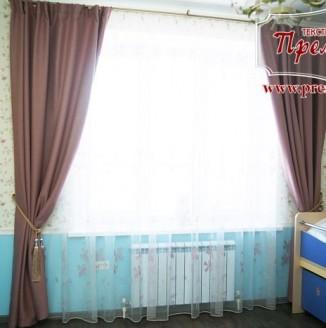 Классические шторы в детской комнате