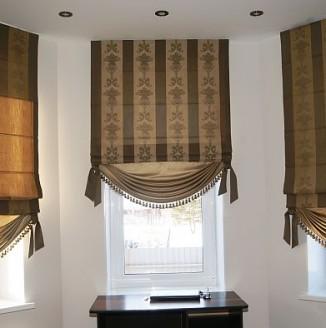 Декорированые римские шторы