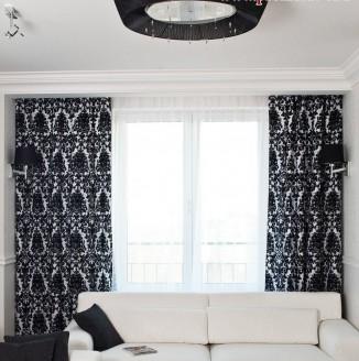 Стильные современные шторы для гостиной