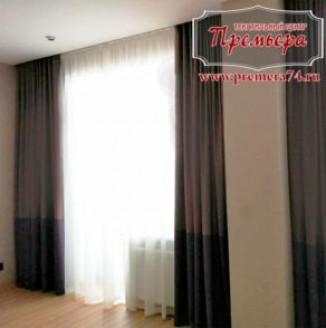 Плотные шторы для квартиры-студии