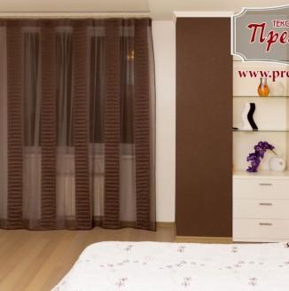 Коричневый дизайн штор для спальни