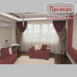 Роскошная красная гостиная