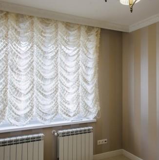 Французские шторы в спальню