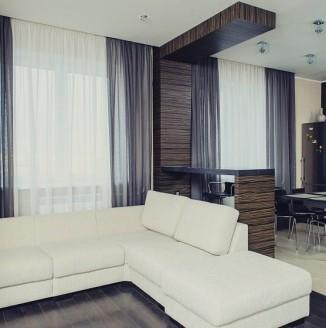 Современное оформление квартиры-студии