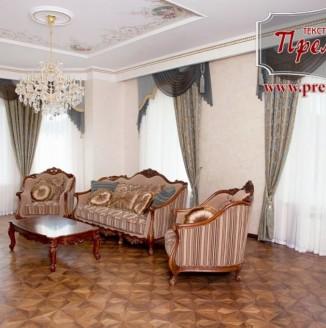 Прямые шторы для представительной гостиной