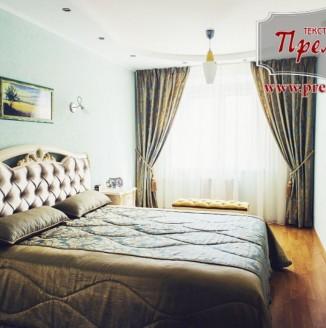 Текстильное решение для элитной спальни