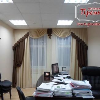 Классические шторы в кабинет руководителя
