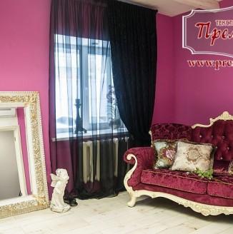 Дизайн фотостудии Barbara (бордовая гостиная)
