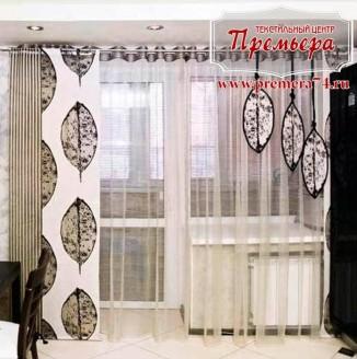 Японские шторы в квартиру студию