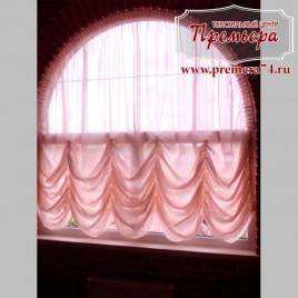 Австрийская штора на арочное окно