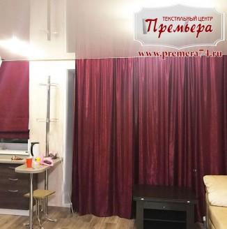 Римская штора с декоративной вуалью