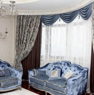 Смешаный стиль штор для гостиной
