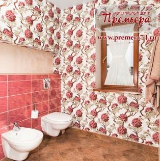 Декоративная штора для туалетной комнаты