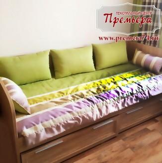 Зелено-фиолетовая детская комната