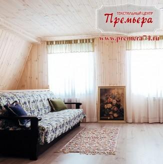 Легкие светлые шторы для гостиной