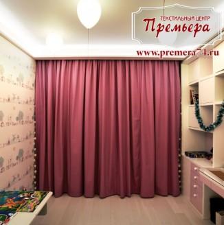 Детская комната с затемненными шторами