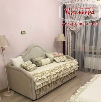 Декорирование спальни рюшами