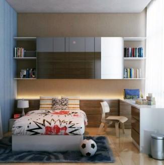 Строгое оформление детской комнаты