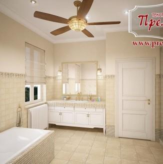 Римские шторы для ванной комнаты Хай-тек