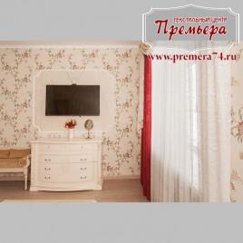 Бежево красная спальня