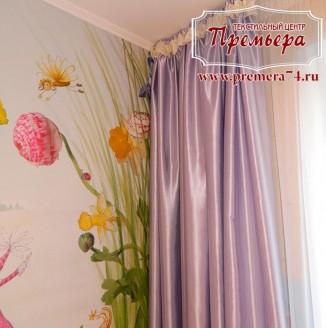 Прямые шторы в детскую для девочки