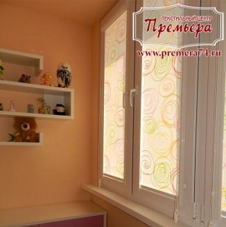 Рулонные шторы на окна в детскую