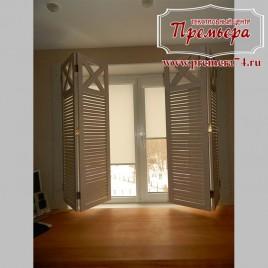 Рулонные шторы на чердачное окно