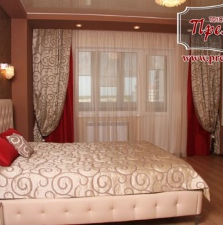 Текстильное оформление кросной спальни
