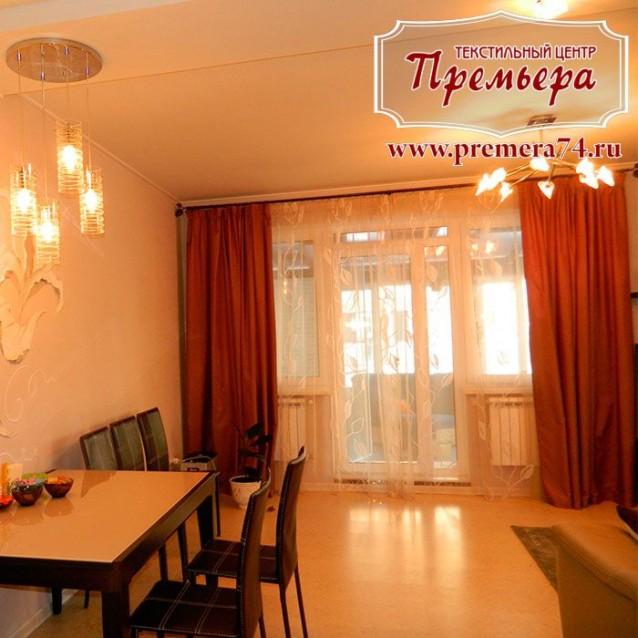 Тюлевые шторы в уютную гостиную