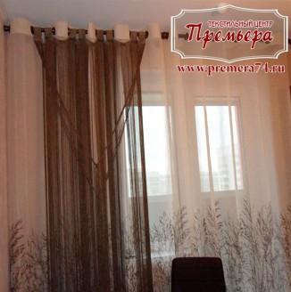 Тюлевые шторы на люверсах