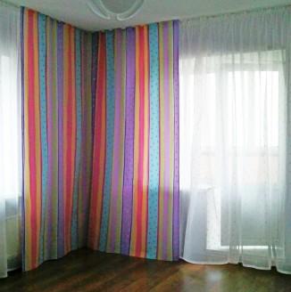 Радужные шторы для гостиной