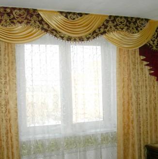 Оформление комнаты шторами в класическом стиле