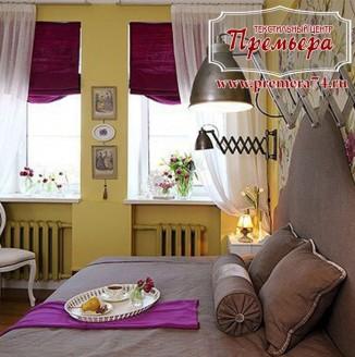 Текстильное оформление спальни в стиле модерн