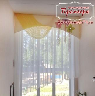 Легкая штора для холла детского сада