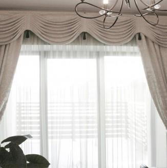 Серые шторы для кабинета