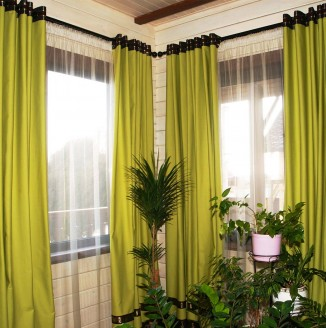 Салатовые шторы для гостиной