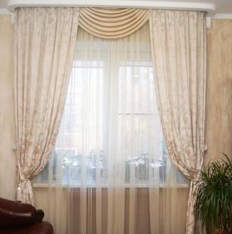 Античные шторы для гостиной