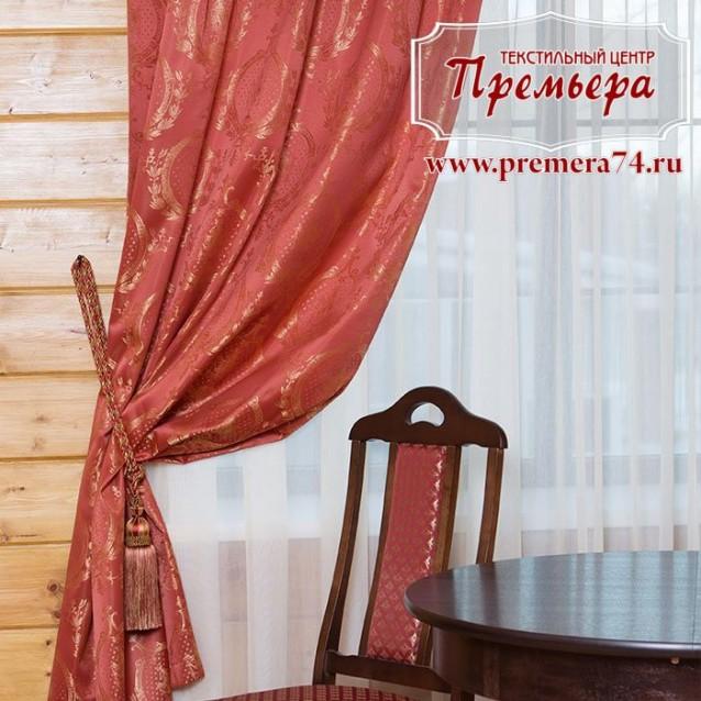 Плотная штора для столовой