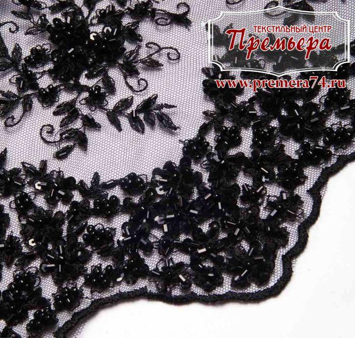 Ткани черное кружево