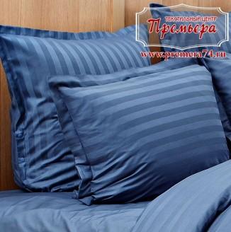 Наволочка 70х70 Синий (полоса)