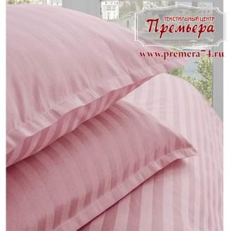 Наволочка 70х70 Розовый (полоса)