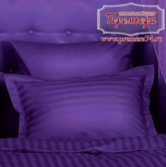 Наволочка 70х70 Фиолетовый ноктюрн (полоса)