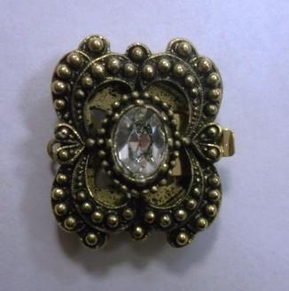 Застежка для бус Германия (13850/01-03, бабочка, золото античноое)
