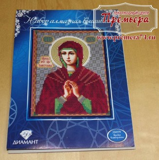 Икона из страз Пресвятая Богородица Семистрельная, ДМ-370