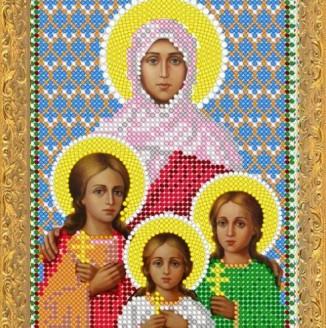 Икона из страз Св.Вера Надежда Любовь ДМ-337